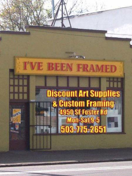 ive been framed art shop exterior